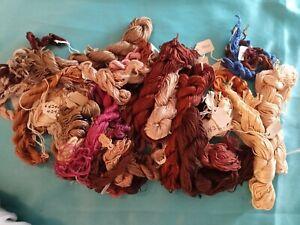 2.5 lbs Lot Embroidery Floss Thread Soie D'Alger DMC Kreinik Semi-Organized Mix