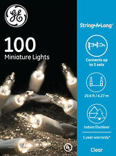 GE String-A-Long 100-Ct. Clear Incandescent Christmas String Lights FREE SHIP