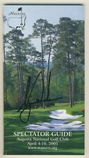 Tiger Woods Signed Auto 2005 Masters Spectator Guide Augusta National    GAI