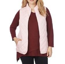 beme Lightweight Sleeveless Pink Floral Lined Ladies Vest Size 20 or M