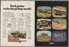 1986 FORD PICKUP 2-page advertisement, Ford carrying Chevy towing Dodge