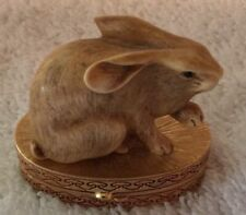 "Estee Lauder Solid Perfume Compact ""Ivory Series Lucky Rabbit"" Mint"