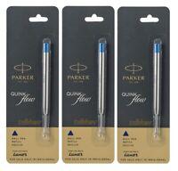 Parker Quink Flow Ballpen Refills Medium Blue Ink x 4