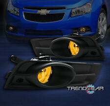 2009-2014 CHEVY CRUZE BUMPER YELLOW FOG LIGHTS LAMP+BLACK COVER+SWITCH 2010 2011
