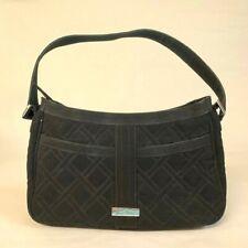 Vera Bradley Shoulder/Arm Microfiber Bag Black Square Quilted Handbag Purse