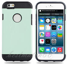 for iPhone 6 4.7 inch phone dual layer black light green hybrid soft hard case