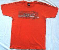 Harley Davidson T-Shirt Men Size Large Classic Orange Seacoast North Hampton NH