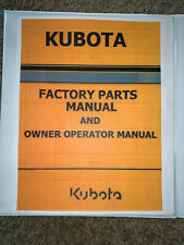 Kubota Bx24d Tractor Mower Master Parts Guide Amp Operator Manual Binder