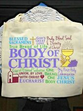 """BODY OF CHRIST"" 1st HOLY COMMUNION TOTE BAG 14"" X 12-1/2""H Nylon *NEW*"