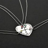"""Creative """"Best Friends forever And Ever"""" Heart Shape Four Parts Splice Necklace"""
