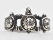 Turtle Ring Vintage Tortoise Sterling Silver Southwest Women  Pinky Size 5.75