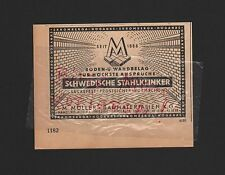 HAMBURG-ALTONA Werbung 1950 M. Möller Baumaterialien KG schwedische Stahlklinker