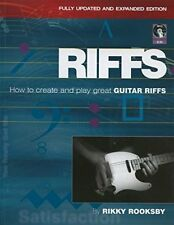 """Riffs"" How to Create and Play Great Guitar Riffs Music Book/Cd-New On Sale-Rare"