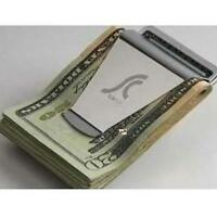 HOT! NEW Slim Steel Money Clip Double Sided Credit Card Holder Wallet GA