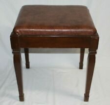 Vintage Singer Sewing Machine Cabinet Storage Bench Seat Stool w New Vinyl Cover