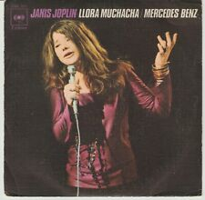 JANIS JOPLIN - Cry baby / Mercedes Benz SINGLE 1971 SPAIN P/S NO LABEL ON A SIDE
