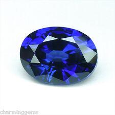 7.36cts. AWESOME BLUE SAPPHIRE OVAL VVS LOOSE GEMSTONE JEWELRY ovale saphir bleu