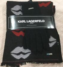 KARL LAGERFELD PARIS Muffler & Touch Glove Set Women's One Size