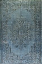 6x9 Ft  Ft Blue Color OVERDYED Handmade Vintage Turkish Rug k68