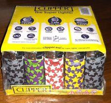 Clipper Lighters Flat 50 Pieces Color Stars Design