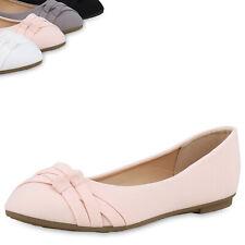 Damen Klassische Ballerinas Elegante Flats  Slipper Slip Ons 896974 Top