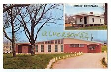 ELVIS PRESLEY VINTAGE TUPELO BIRTHPLACE (POST CARD - 1977