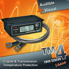 TM4 Twin, Engine & Transmission Temperature Warning Alarm SUITS ALL VEHICLES