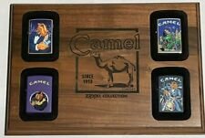 Vintage Zippo 1997 Camel 4 Lighter Lot | Camel Wooden Display | ALL MINT | RARE