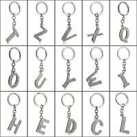 Keyring A-Z Diamond Letter Initial Alphabet Bling Name Crystal Chain Gift