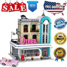 City Building Blocks Sets Creator 15037 Downtown Diners Street Model Kids Toys