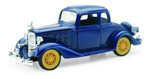 NEW55163 - Car Coupé Of 1933 Blue - Chevy Two Passengers 5 Window