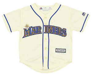 Majestic MLB Kids (4-7) Seattle Mariners Home Jersey Team