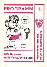 Comedores-trofeo 84/85 BFC Dynamo-ASG hacia adelante Stralsund, 20.01.1985