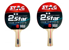 Stag 2 Star Table Tennis Racquets  - Set of 2 Racquets