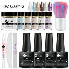 10g MTSSII Dipping Nail Powder Glitter Dip Liquid Brush Nutrition Oil Purple Kit