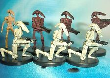 Star Wars Miniatures Lot  Battle Droid Clone Strike Attack !!  s97