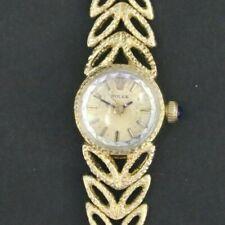 Vintage Rolex Chameleon 14K  Gold Manual Wind Ladies Watch on Gold Bracelet