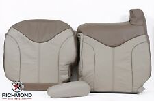 2001 GMC Sierra C3 Denali -Driver Side Complete Leather Seat Covers 2-Tone Tan