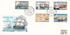 Guernsey 1983 Golden Era of Shipping Mercury FDC VGC