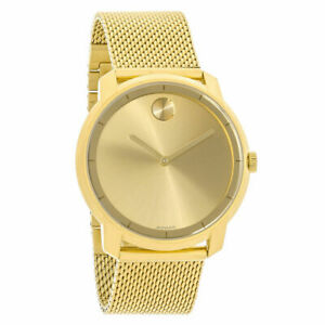 Movado Bold 3600373 Men's Gold Tone Stainless Steel Band Watch.