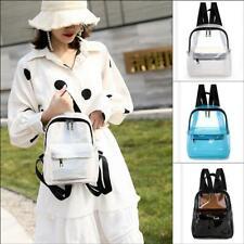 Women's Fashion Transparent PVC Backpack Mini Clear Racksack Girl Cute Schoolbag