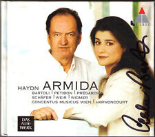 Cecilia BARTOLI Signiert HAYDN: ARMIDA 2CD HARNONCOURT Petibon Prégardien Widmer