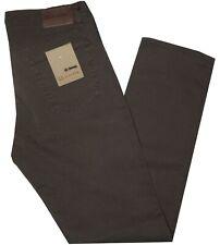 Pantalone uomo jeans 46 48 50 52 54 56 58 60 HOLIDAY coton strech marrone PANAMA