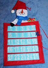Snowman Countdown to Christmas Felt Advent Calendar