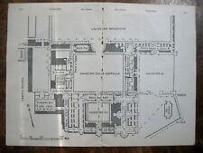 stampa antica old map MAPPA carta topografica BOLOGNA LA CERTOSA 1924
