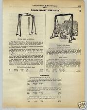 1930 PAPER AD Weaver Auto Engine Hoist Manley Holmes Car Auto Lift Garage