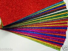 6  X GLITTER FOAM SHEETS MANY COLOURS TO CHOOSE FROM ARTS AND CRAFT HOBBY