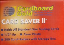CARDBOARD GOLD CARD SAVER II/ 2 SEMI RIGID BASEBALL TRADING CARD HOLDERS 200 BOX