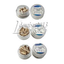 50pcsbox Dental Natural Interdental Wood Wooden Wedges Matrix Sterilized