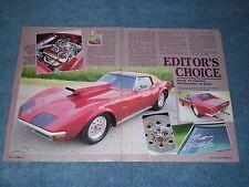 "1972 Corvette Coupe Pro Street Show Car Article ""Editor's Choice"""